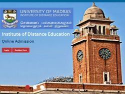 University Of Madras Institute Of Distance Education Extends
