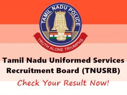 Tnusrb Police Constable Result 2019 Released Check Here
