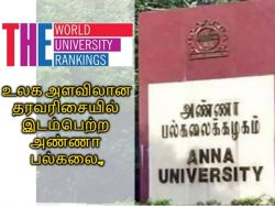 The World University Ranking 2020 Anna University Also Got Place In That Ranking