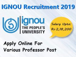 Ignou Recruitment 2019 Apply Online For Various Professor Post In Indira Gandhi National Open Uni