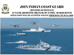 Indian Coast Guard Recruitment 2019 Apply Online For Navik Post