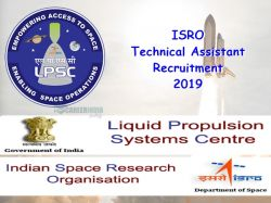 Isro Technical Assistant Recruitment 2019 Apply Online Through Ipsc