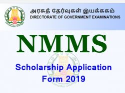 Nmms Scholarship Application Form 2019 Apply By Oct