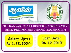Aavin Kanyakumari Recruitment 2019 Apply For Deputy Manager Now