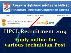 Hpcl Recruitment 2019 72 Vacancies For Various Technician Post Apply Online
