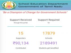 Tn Govt Launche Funding Platform To Improve School Infrastructure