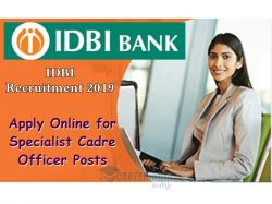 Idbi Recruitment 2019 Apply Online For 61 Agriculture Officer Faculty And Other Post