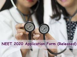 Neet 2020 Application Form Released Registration Date Application Details Here