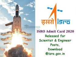Isro Admit Card 2020 Released Isro Gov In Here Check Dates And How To Download