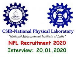 Npl Recruitment 2020 Npl Walk In Interview For Project Scientist And Other Post