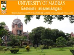 Madras University November Semester Result Declared At Unom