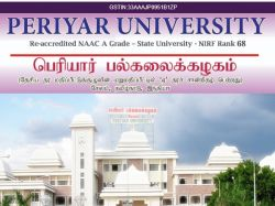 Periyar University Recruitment 2020 Apply Online 1 Research Assistant Post