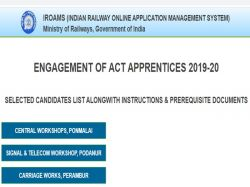 Southern Railway Apprentice Dv Dates 2020 Released Iroams Com