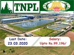 Tnpl Recruitment 2020 Apply Online 50 Job Vacancies