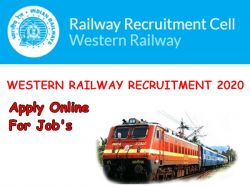 Western Railway Application Invited For Hospital Attendant Post