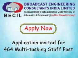 Becil Recruitment 2020 Application Invited For 464 Multi Tasking Staff Post