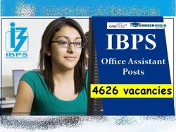 Ibps Recruitment 2020 Apply Online For 4626 Office Assistant Posts Ibps In