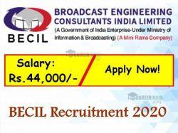 Becil Recruitment 2020 Application Invited For Senior Software Developer Post