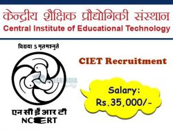 Ciet Recruitment 2020 Walk In For System Analyst Post On Oct 26 To