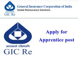 General Insurance Corporation Of India Recruitment 2020 Apply For Apprentice Post