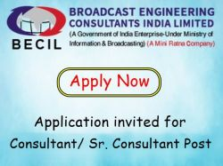 Becil Recruitment 2021 Apply Online For Consultant Sr Consultant Post