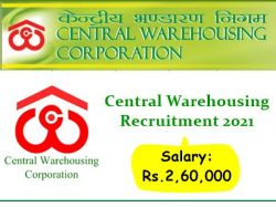 Central Warehousing Recruitment 2021 Apply Online For General Manager Various Post