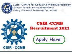 Csir Ccmb Recruitment 2021 Application Invited For Gr Ii 1 Technician Post