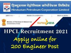 Hpcl Recruitment 2021 Apply Online For 200 Engineer Post Hindustanpetroleum Com