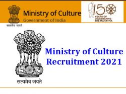 Ministry Of Culture Recruitment 2021 Application Invited For Director Post