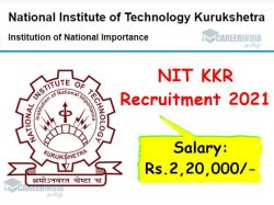 Nit Kkr Recruitment 2021 Apply For Professors Post
