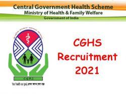 Cghs Recruitment 2021 Application Invited For Pharmacist Post