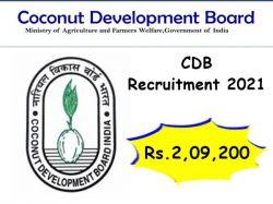 Coconut Development Board Recruitment 2021 Apply For Chief Coconut Development Officer Post