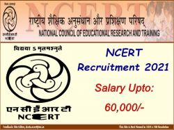 Ncert Recruitment 2021 Apply For 38 Sr Consultant Consultant And Other Post At Ncert