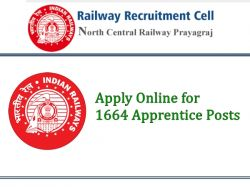 North Central Railway Jobs 2021 Apply Online For 1664 Apprentice Posts