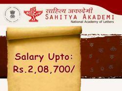 Sahitya Akademi Recruitment 2021 Apply For Deputy Secretary General Assistant Librarian Other Po