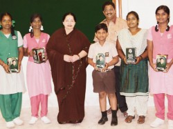 Jayalalithaa Distributed Solar Table Lamps Students