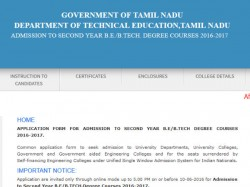 Students Can Apply B E 2nd Year Through Online
