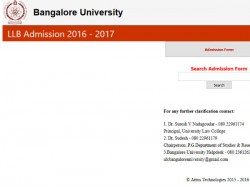 Bangalore University Offers Admission B A Ll B Programmes