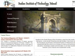 Iit Mandi Admissions 2016 Apply M Sc Programme