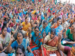 Government Teachers Participating In Strike