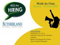 Sutherland Global Walk In For Associate Senior Associate