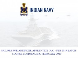 Indian Navy Invites Online Applications For Unmarried Male Candidates For The Post Of Sailors