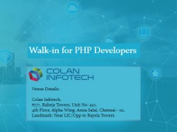 Colan Infotech Walk In For Php Developers