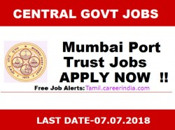 Mumbai Port Invites Application For Various Post
