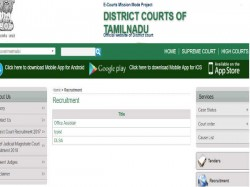 Chennai Special Court Recruitment