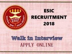 Esic Recruitment 2018 Apply Social Security Officer Manage