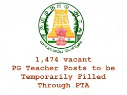 Vacant Pg Teacher Posts Be Temporarily Filled Through