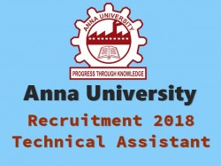 Anna University Recruitment 2018 Apply Online 01 Technical Assistant Posts