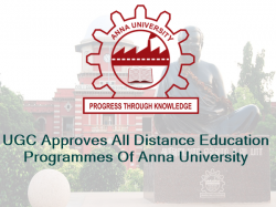 Ugc Approves Distance Education Programmes Anna University