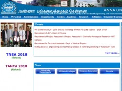 Anna University Recruitment 2018 Apply Online Project Associate Post